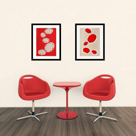 Happy-Cells-Beige-and-red-abstract-limited-editions