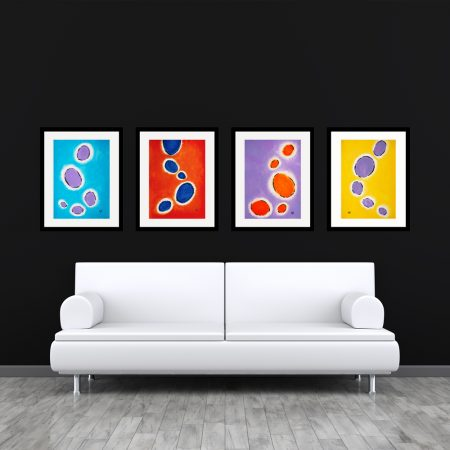 Happy Cells Set Abstract Art Set