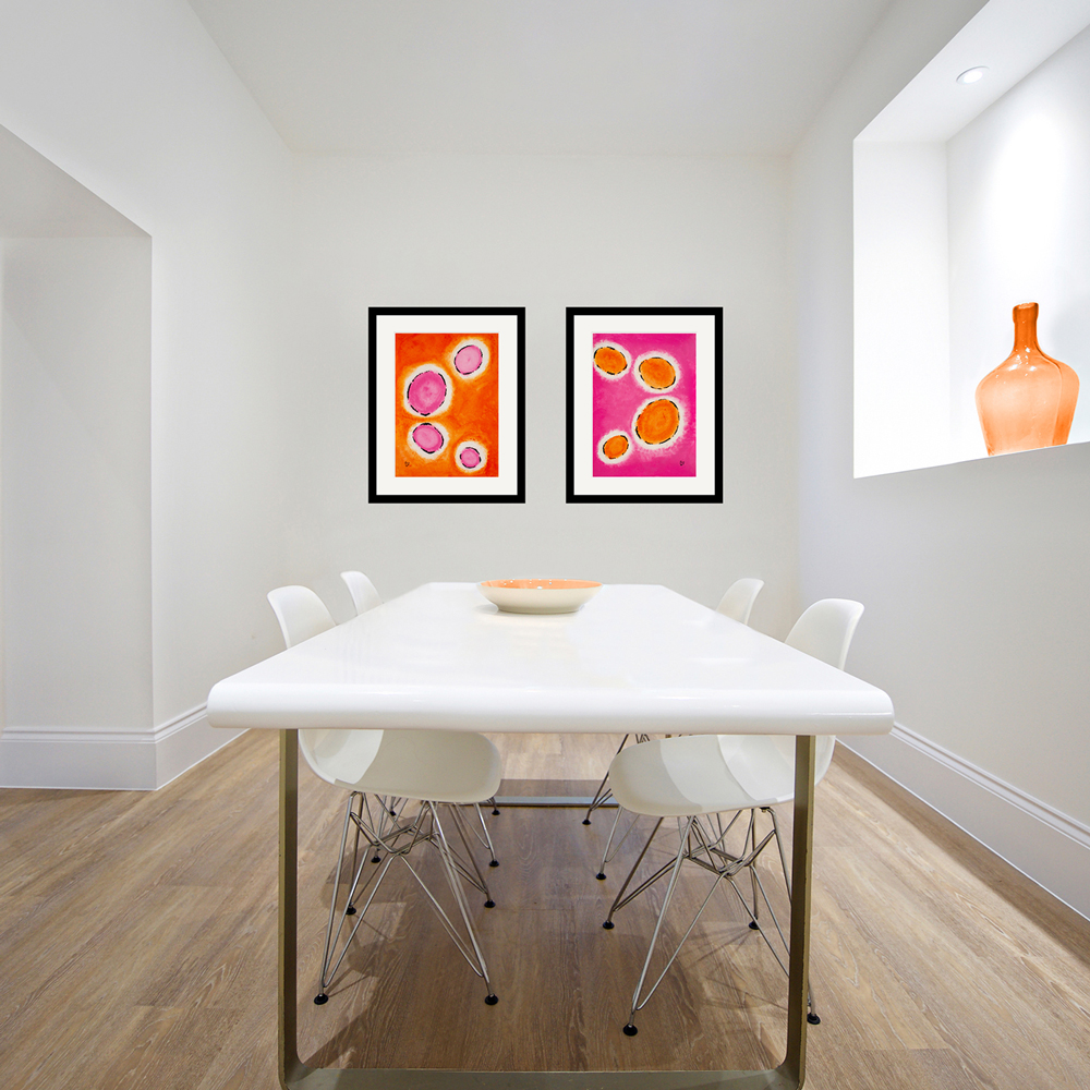 Happy-Cells-Orange-Pink-Dining-Room