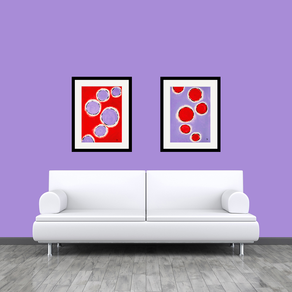 Happy Cells abstract art
