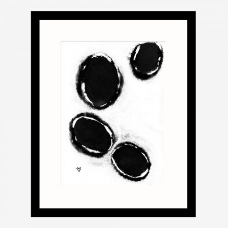 Happy-Cells-White-&-Black-ABSTRACT ART