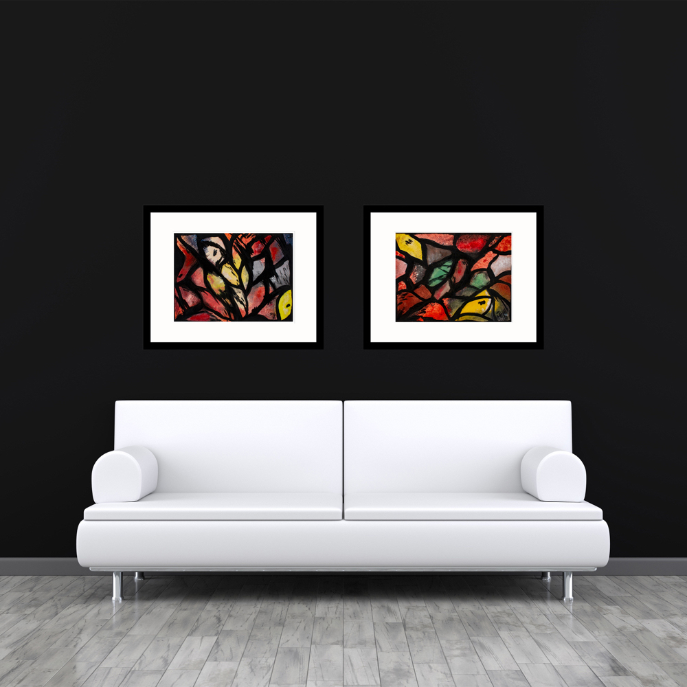 Kaleidoscope paintings abstract art
