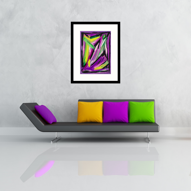 Purple Web abstract art