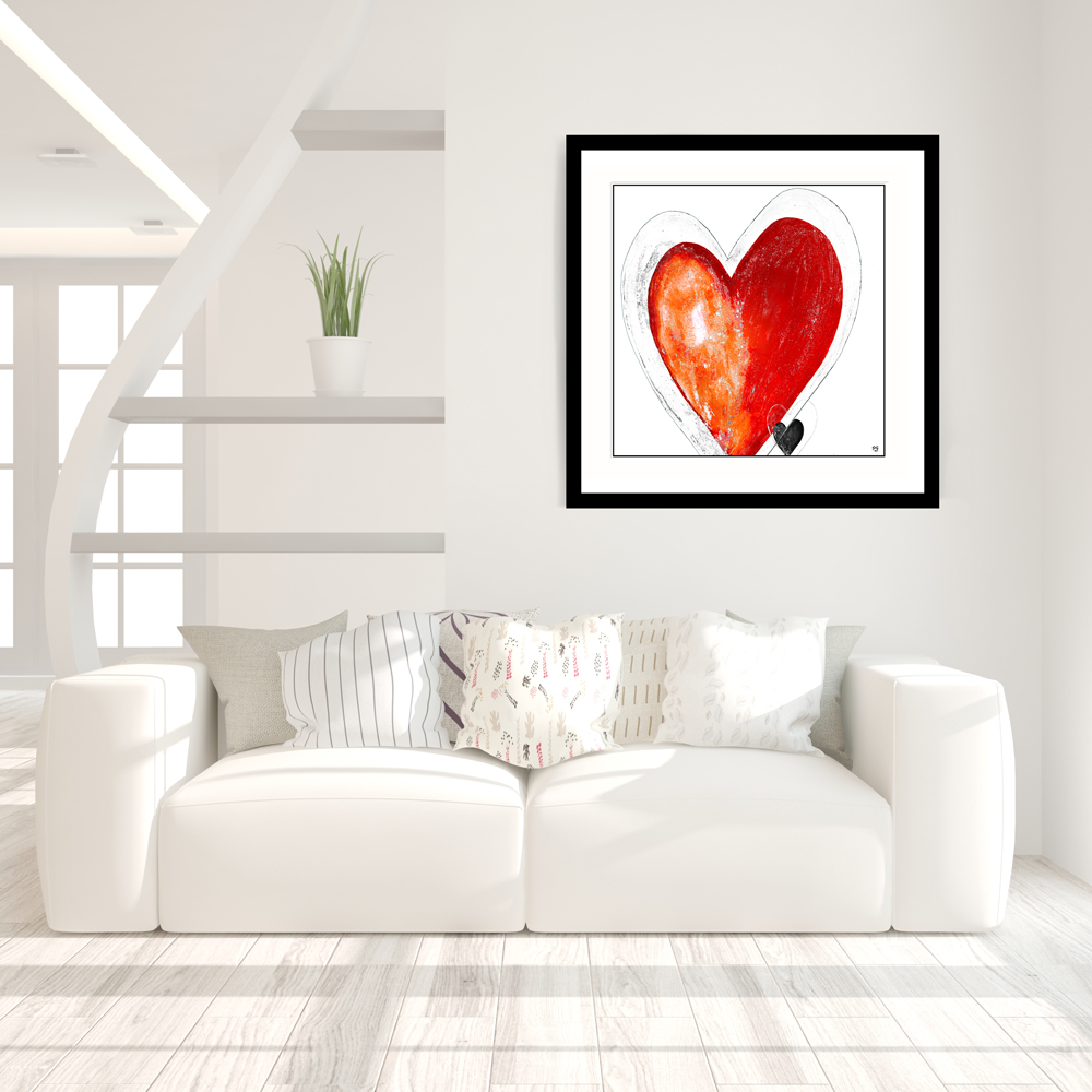 You're in my heart 3 abstract art