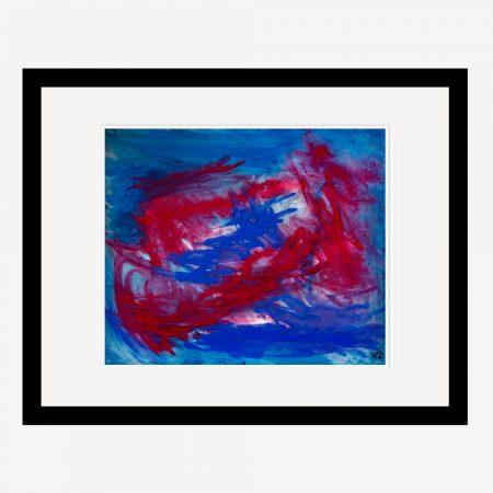 Piranhas abstract painting