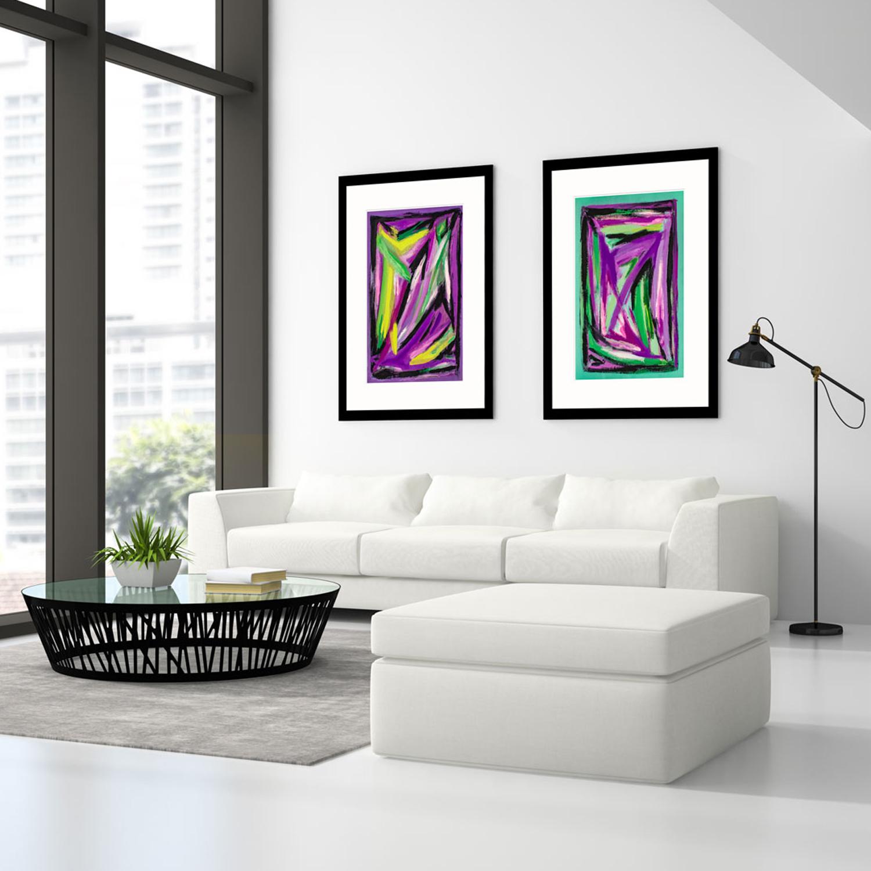 Purple-&-Green-Webs-abstract-art