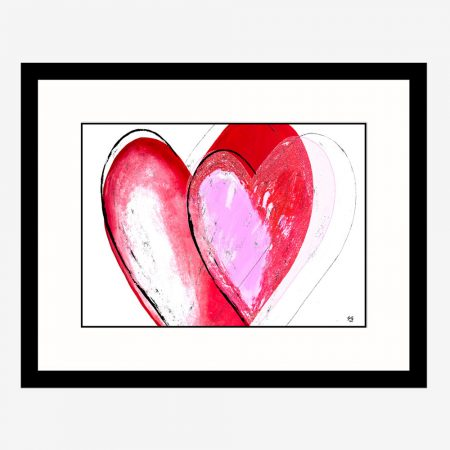 The love inside heart painting