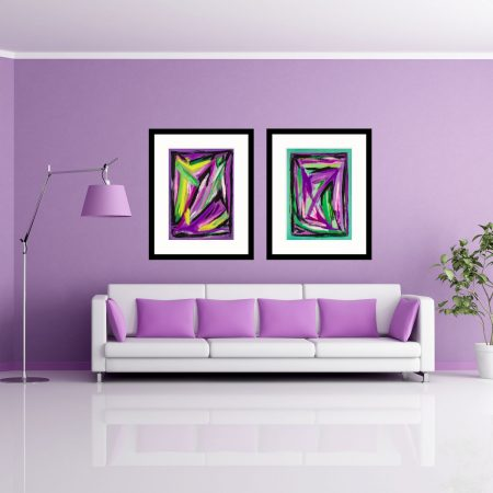 Purple & Jade Webs art
