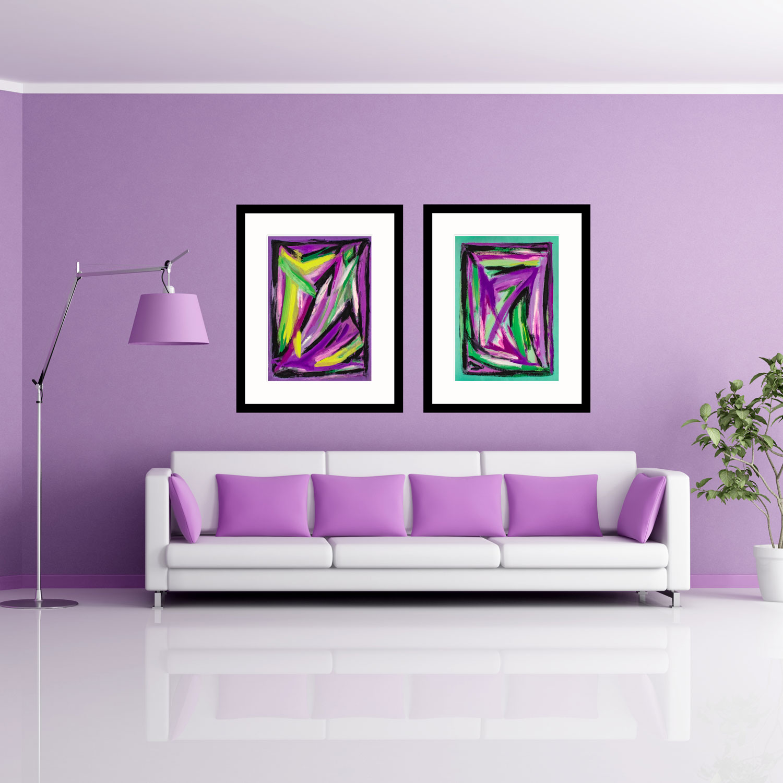 Purple & Jade Webs art